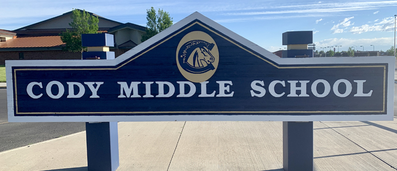 Cody Middle School sign