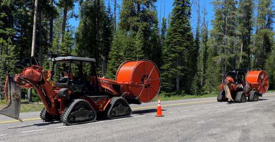 Fiber-optic cable installation in Grand Teton National Park