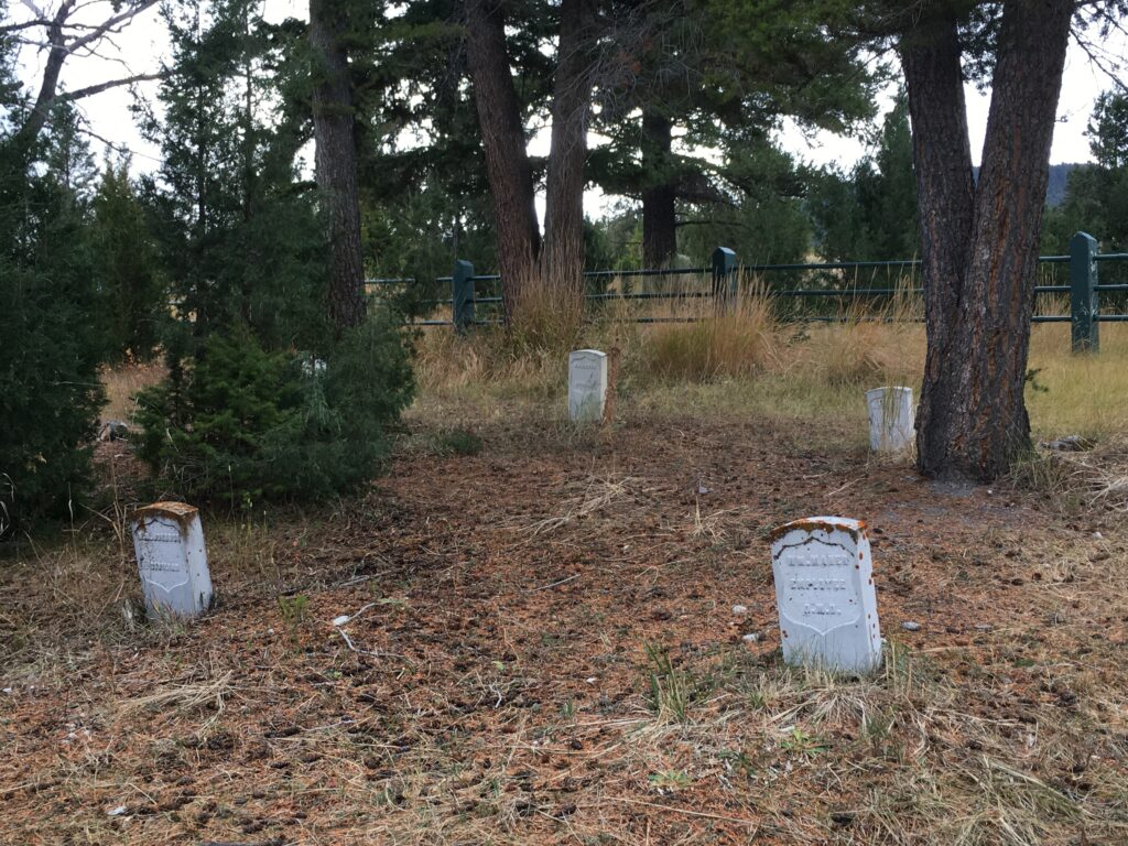 The Fort Yellowstone Cemetery at Mammoth Hot Springs