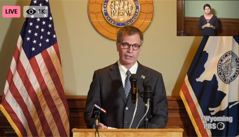 Governor Gordon during Monday's press conference