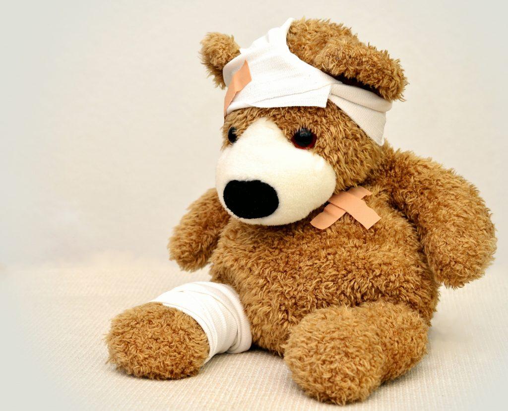 Bandaged teddy bear