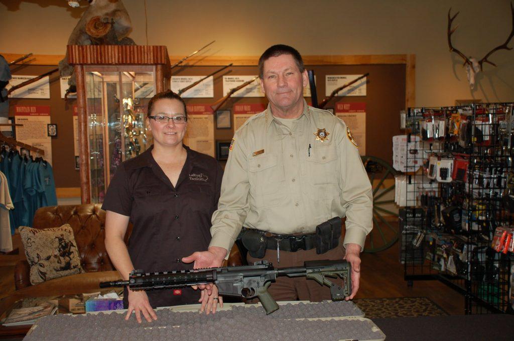 Sheriff Scott Steward with LaRue rifle