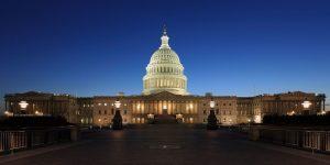 U.S. Capitol Building at Dusk