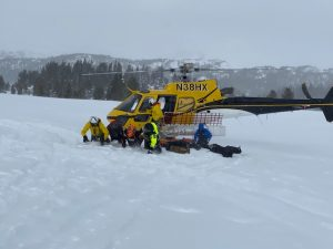 Rescue Chopper in the Beartooth Mountains