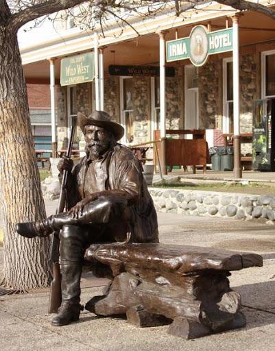 Buffalo Bill Bench at Irma Hotel