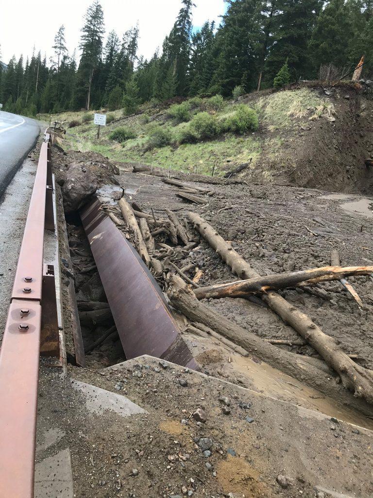 North Fork bridge mudflow