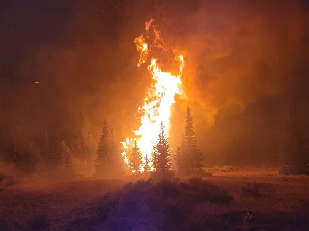 Crater Ridge Fire 8-15-21