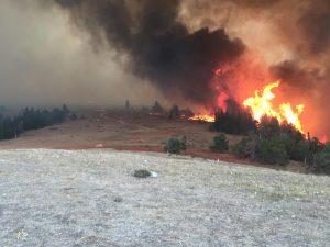 Crater Ridge Fire on 8-24-21