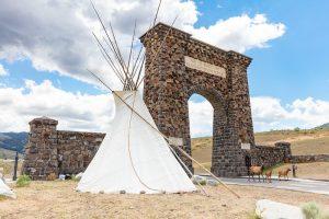 Teepee at Yellowstone North Entrance